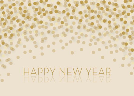 Champagne Wishes Happy New Year Cards
