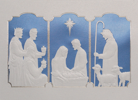 Religious Triptych Christmas Cards