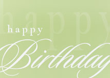 Simply Stated Happy Birthday Cards